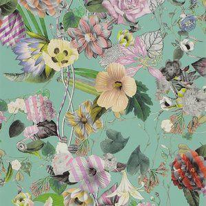 Behang Christian Lacroix Malmaison - IncroyablesEtMerveilleuses Collectie  Behang Christain Lacroix Malmaison heeft een dessin van vrolijke uitbundige exotische bloemen, die een Lacroix make-o...
