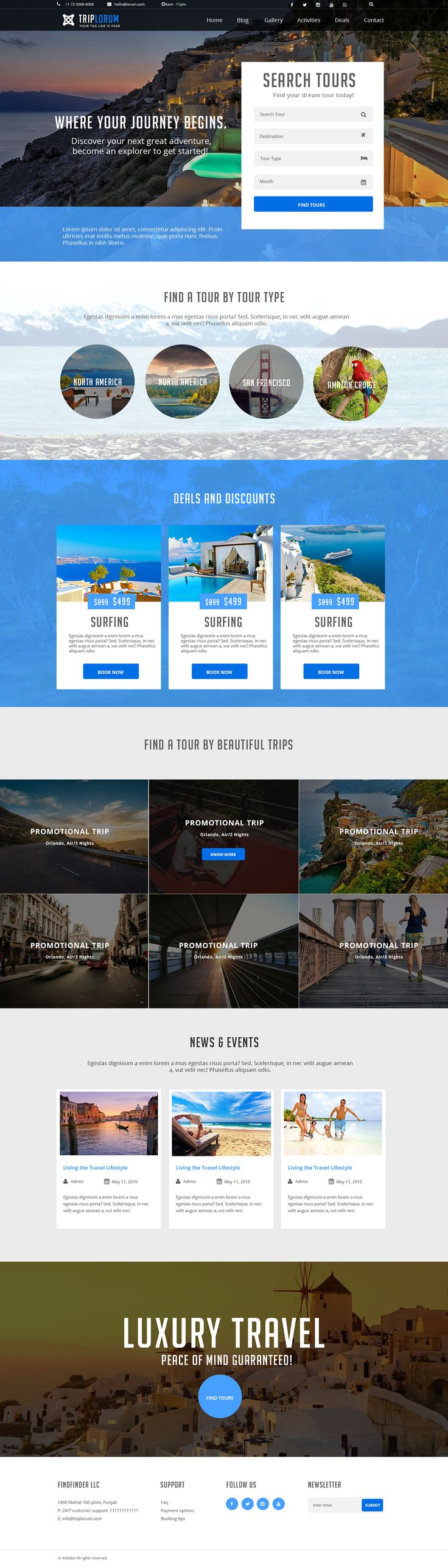 This is a #tours and #travels #website #design developed by #Wodpraxs's team. To hire our services contact us at service@wordpraxs.com or Skype: service.wordpraxs