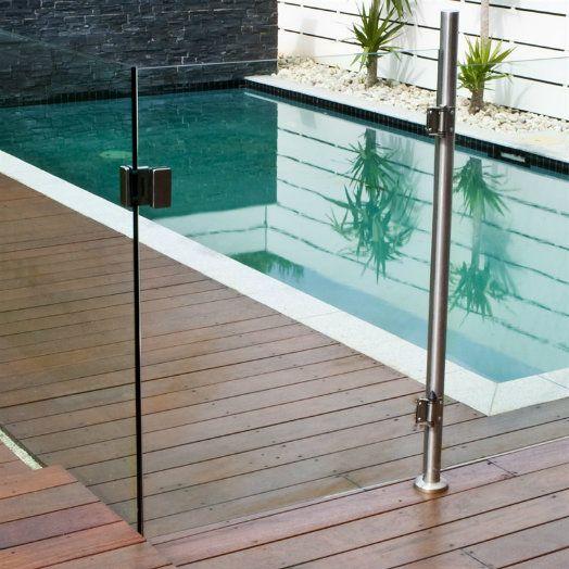 glass pool gate corner latch - Google Search