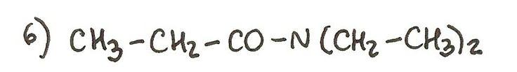 Ejercicio 6 de formulación orgánica. Nombra la siguiente amida.