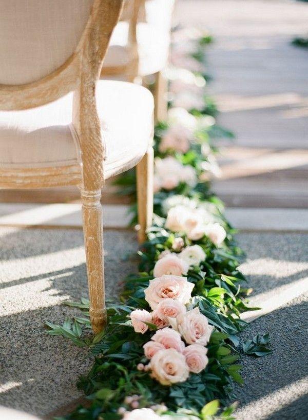 romantische Blumen ausgekleidet Hochzeitszeremonie Gang #Hochzeitsdekor #Hochzeitszeremonie #Hochzeit …   – ceremony