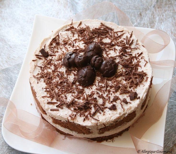 Mousse aux poires sur un biscuit chocolaté Bio, sans oeufs, gluten et pas que.....