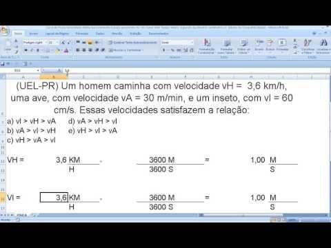 https://youtu.be/dWWRJcjs_Jo Conversão ou transformação de unidades de medida Velocidade Comprimento ...