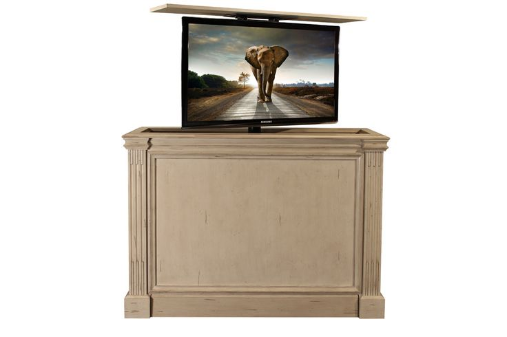 11 best pop up tv cabinet images on pinterest television for Tv lift consoles for flat screens