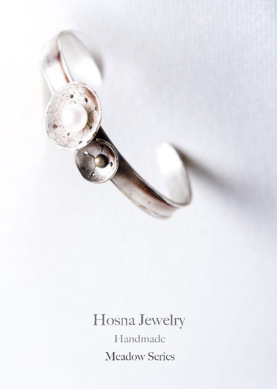 Bracelet , silver, pearl