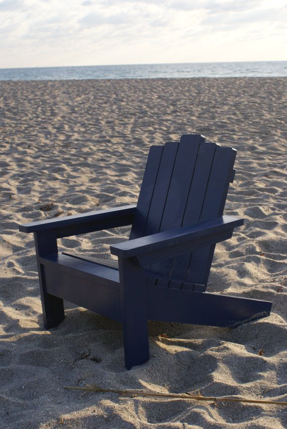 Great Navy Blue Kids Adirondack Chair. Perfect For The Nautical Themed Room. $120  W/