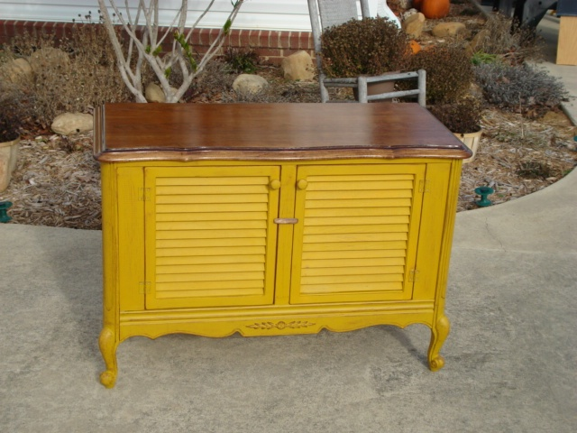 repurposed tv console i think i love this color