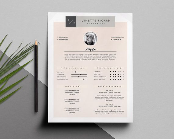 123 best images about resume templates – Template for Cover Letter