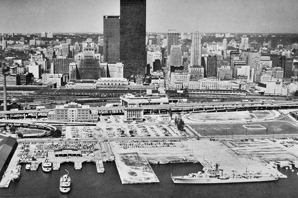 A shot of Toronto's skyline taken in 1969, post-construction boom.
