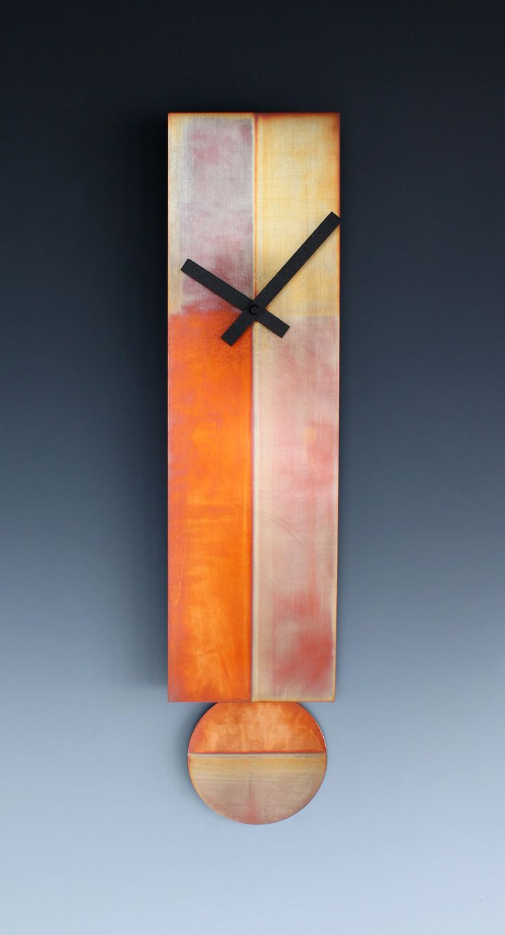 Lena Pendulum Clock by Leonie Lacouette: Metal Clock available at www.artfulhome.com