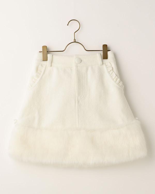 裾ファー台形スカート 渋谷109で人気のガーリーファッション リズリサ公式通販