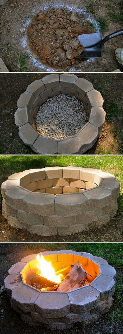 DIY Fire Pit on a budget ...............Follow DIY Fun Ideas at for tons more great projects!