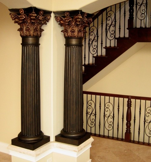 122 best stair railings images on pinterest victorian for Decorative columns interior ideas