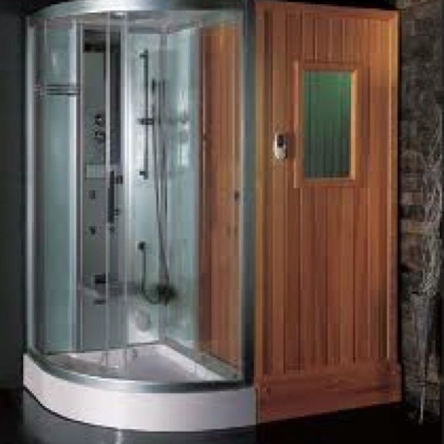 Sauna steam room for master bathroom trinity and alan 39 s for Master bathroom with sauna