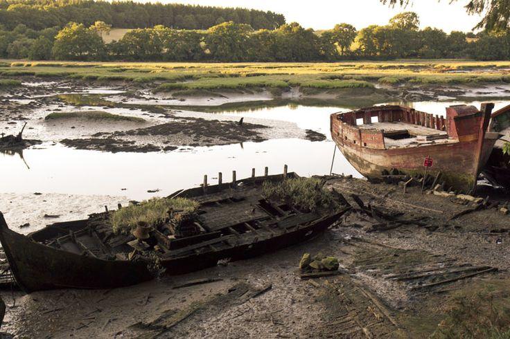 Cimetiere de bateaux dans le Morbihan, Brittany-France #shipwreck #ship-graveyard