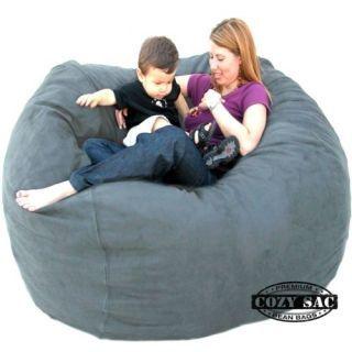 Bean Bag Chair Love Seat by Cozy Sac 5' Micro Suede Huge