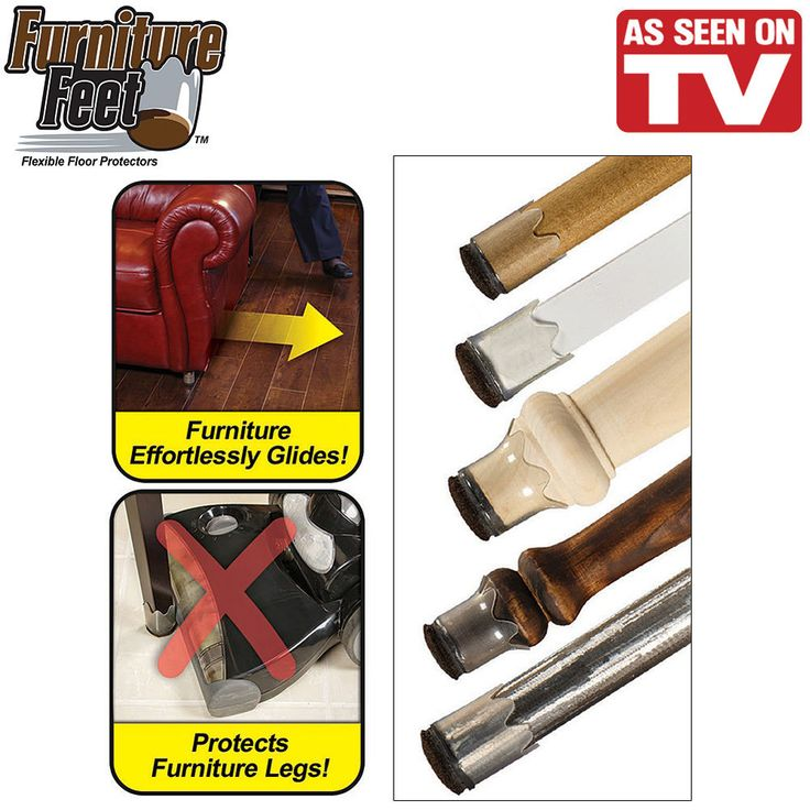 As Seen On TV Furniture Feet Flexible Floor Protectors Large/Small