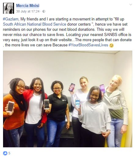 Screenshot from one of our #SANBS influencers. #InfluencerMarketing #WordOfMouthAdvertising #theSALT