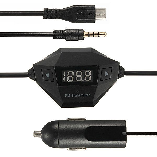 3.5mm FM Transmitter Micro USB Car Charger For Samsung Galaxy iPhone6