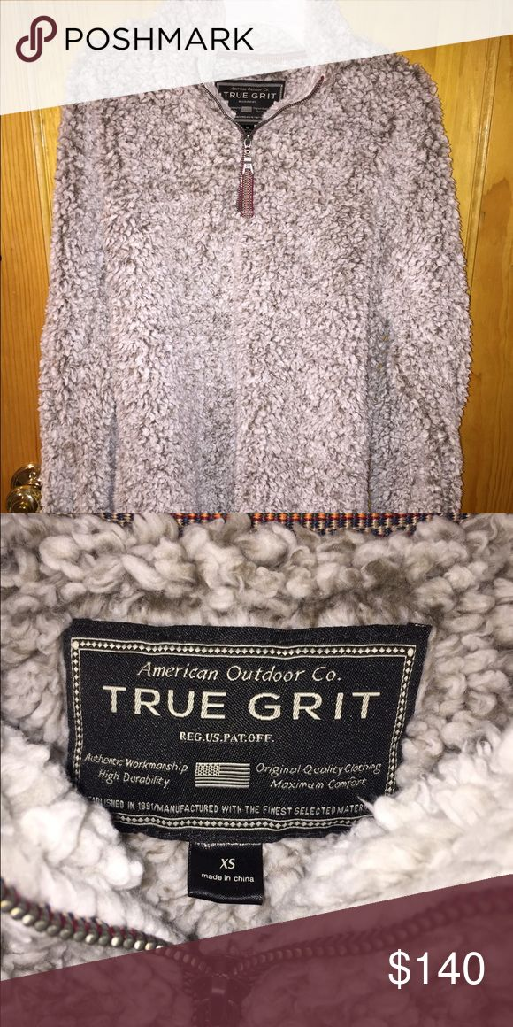 True Grit Frosty Tipped Pullover NWOT True Grit Frosty Tipped Pullover. Extremely fluffy and soft. Never worn. NWOT True Grit  Tops Sweatshirts & Hoodies