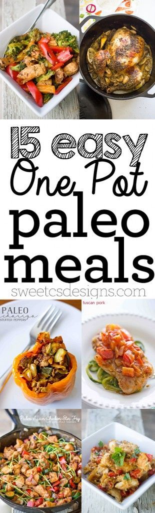 15 One Pot Paleo Meals- kick your new years health goals off the right way with these easy delicious meals your whole family will love!