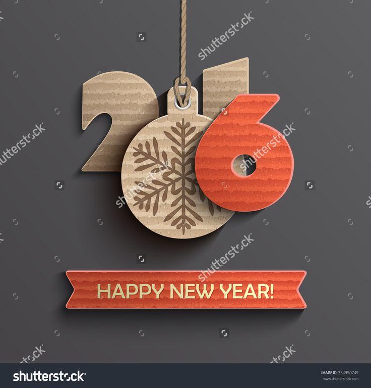 Creative happy new year 2016 design. Vector illustration.