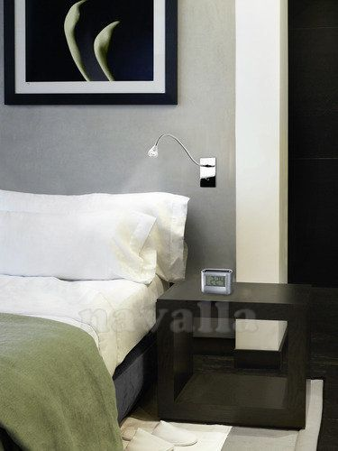 Choose LED light for reading in bed! With this LEDS-C4 wall light you'll want more books than ever :)