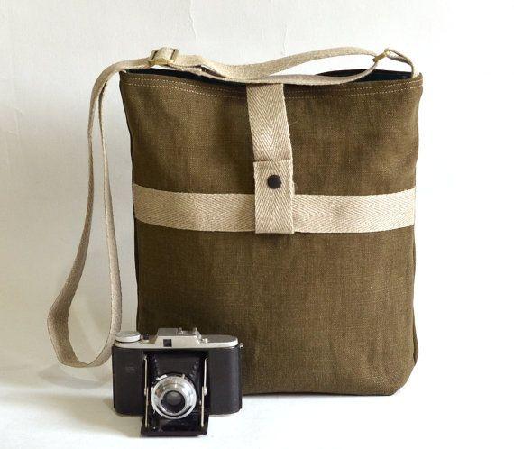 UNISEX French Messenger bag / Cross body bag in MOSS by ikabags,French Messenger, Moss Green, Messenger Bags, Crosses Body Bags, Cameras Bags, Rotting Proof, Teal Green, Cross Body Bags, Green Linens