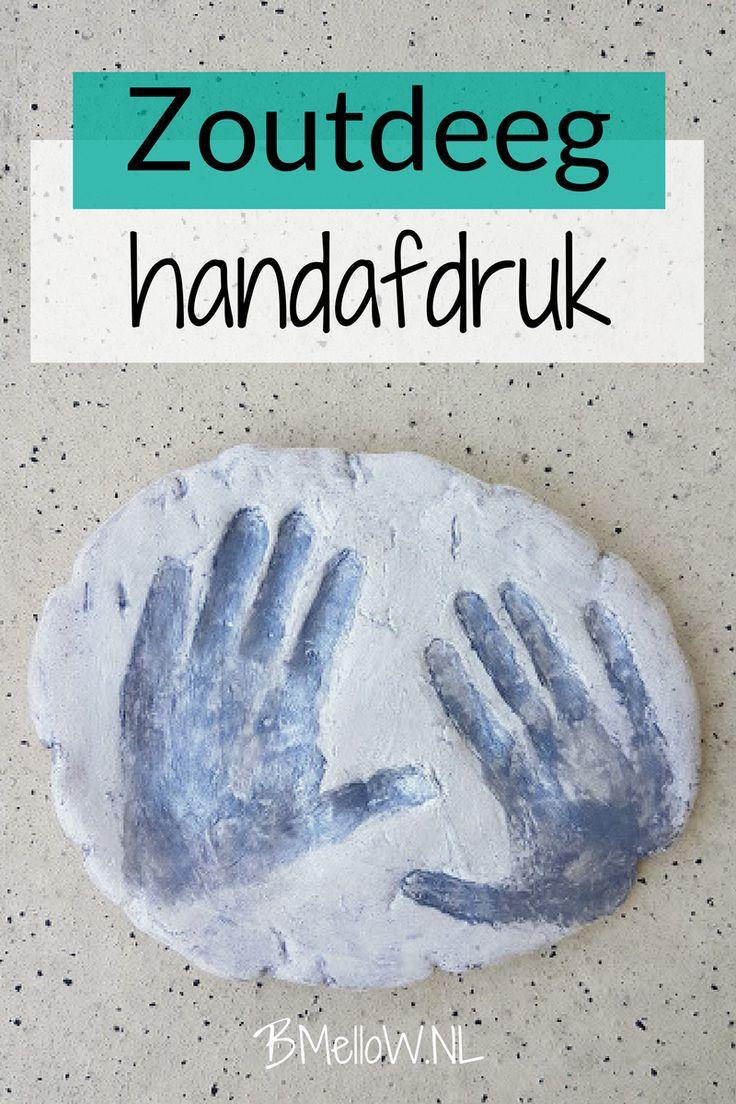 De zoutdeeg handafdruk. Een super simpele last minute cadeau. BMelloW.NL
