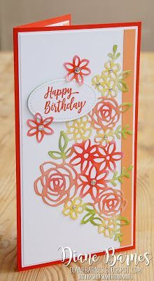 Handmade Birthday Card Using Stampin Up Springtime Impressions Dies And Southern Serenade Stamps By Di Barnes Colourmehappy
