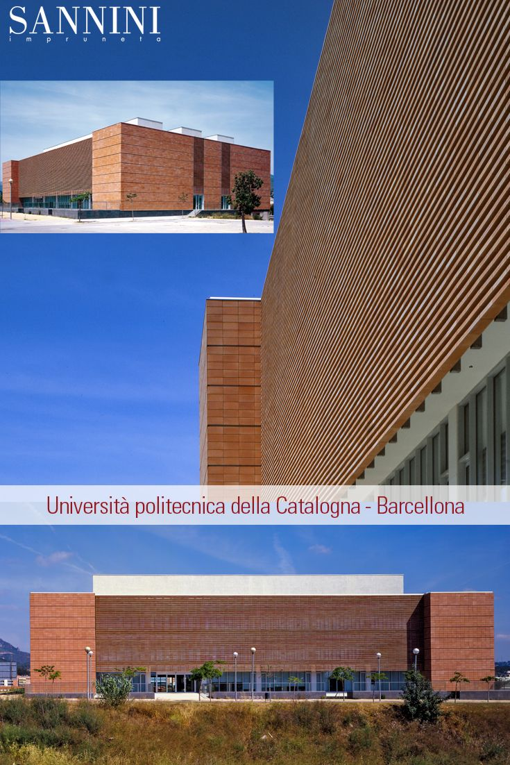 Biblioteca a Barcellona Per la sede della Università Politecnica di Catalogna a Barcellona, lo studio di Architettura di Roberto Ercilla, ha disegnato un fabbricato ......... http://www.sannini.it/news-single-022.html #facciateventilate #paretifrangisole #cotto www.sannini.it Library in Barcellona At the headquarter of the Polytechnic University of Catalonia in Barcelona, the Architect Studio of Roberto Ercilla designed a ..... http://www.sannini.it/news-single-022-en.html…