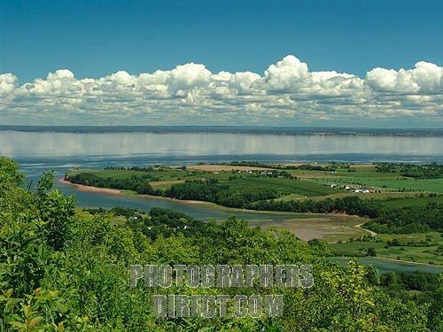 Minas Basin and the Annapolis Valley , Nova Scotia , Canada