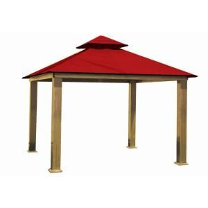12 ft. x 12 ft. STC Seville and Santa Cruz Red Gazebo Replacement Canopy, STC12-SD Red at The Home Depot - Mobile