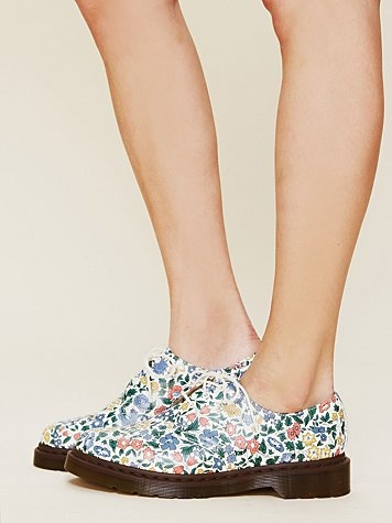 Liberty London for Doc Martens Floral Printed Gibson Oxford  http://www.freepeople.com/whats-new/liberty-london-for-doc-martens-floral-printed-gibson-oxford/