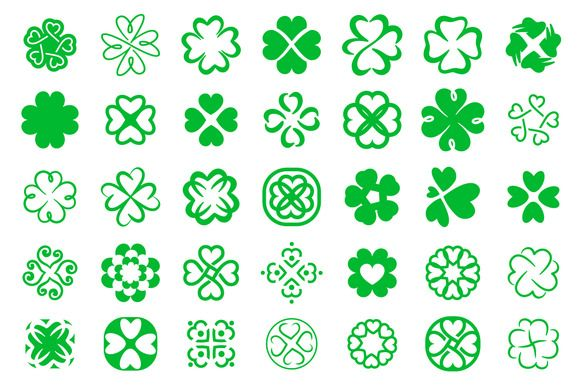 35 clover icon by AliceNoir on @creativemarket  natural,green,floral,white, ireland,day,flower,patrick,concept, leaf,sign,vector,holiday,symbol, ecology,st,graphic,saint,black,shape, abstract,flat,four,northern,icon,celtic, illustration,luck,three,collection, design,plant,clover,set,art, background,shamrock,silhouette, conceptual,nature,logo,4,irish,four-leaf