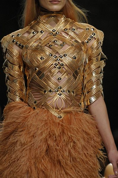 @chloespeer97 maybe you could look at this for weaving??  Manish Arora Spring 2012