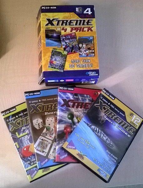 Collection coffret jeu vidéo rétro PC CDROM - XTREME 4 PACK