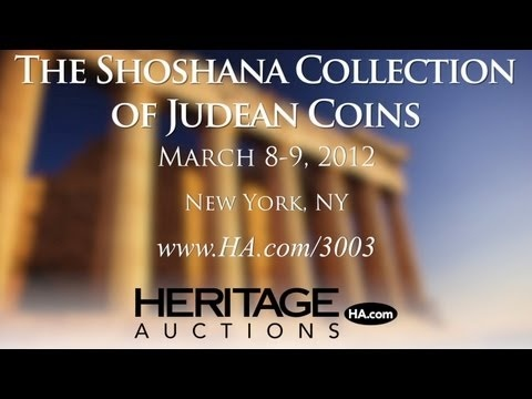 Heritage Auctions (HA.com) - Highlights of the Shoshana Collection: Judaean Coins of the Persian Period, Maccabee and Herodian Eras, The Jewish War, Bar Kokhba Revolt, Roman Judea Capta Coinage and City Coins of the Ancient Holy Land. The auction of The Shoshana Collection of Ancient Judaean Coins at Heritage is truly a sale of epic history. Among the hundreds of coins to be sold in New York will be a Silver Year 1 Shekel prototype coin -- among the very first coins minted by Jewish…