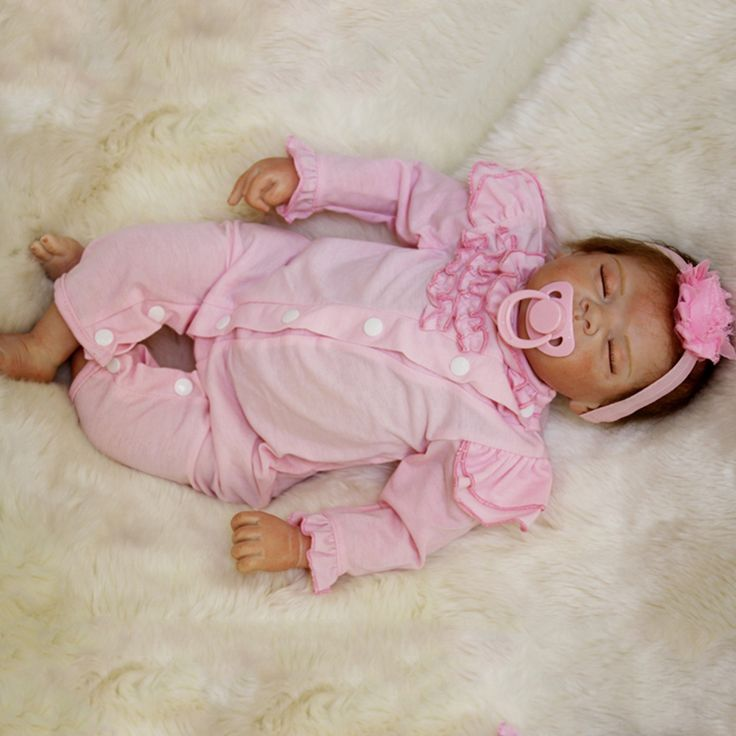 50cm silicone reborn baby Sleeping Dolls Toy For Sale Cheap Vinyl Newborn Princess Girls Babies Dolls Bedtime Play House Toy #Affiliate
