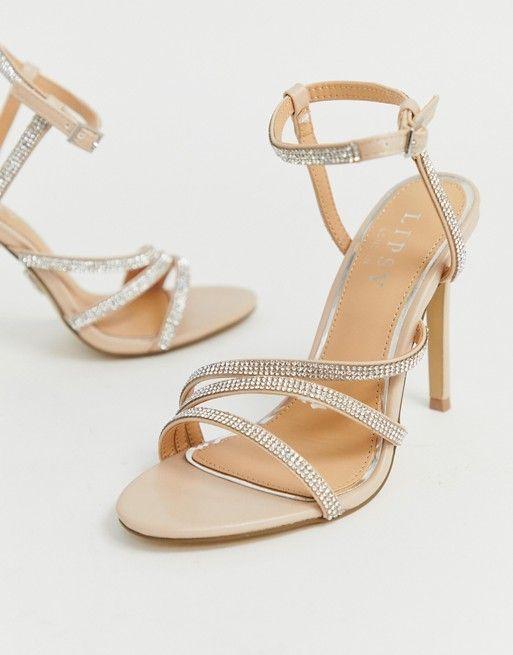 baaf72aaa0e Lipsy diamante heeled sandal in pink in 2019 | prom Heels | Sandals ...