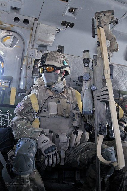 British Sniper with an Accuracy International Arctic Warfare L96A1.