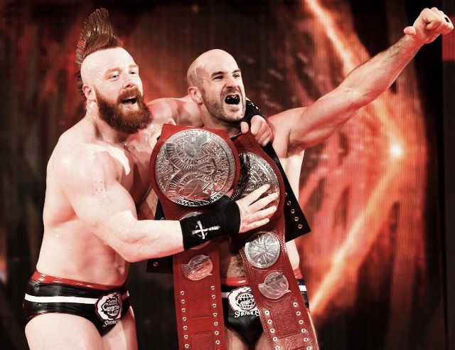New RAW Tag Team Champion Sheamus and Cesaro