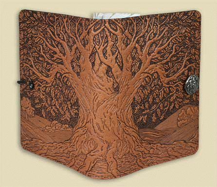 I also love keeping a journal and love good leather journals with replaceable pads..This is my very journal..made by Oberon..Tree of Life! I adore it!