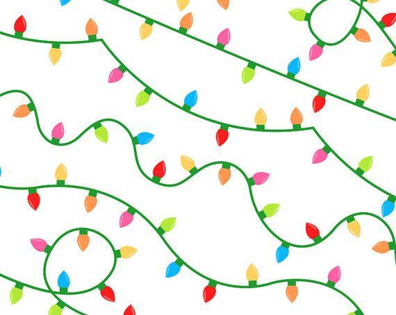 Fairy Lights Clip Art Digital Party Lights Christmas