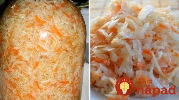 Chrumkavý kapustovo-mrkvový šalát bez zavárania