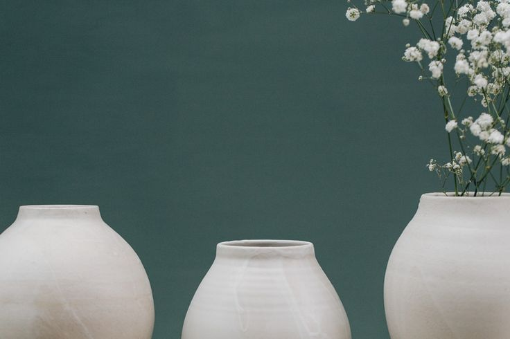 White vase forms from pottery west