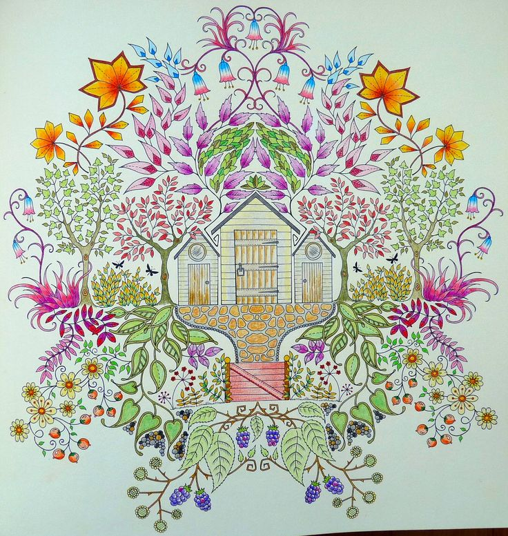 Uit Het Boek Mijn Geheime Tuin Van Johanna Basford