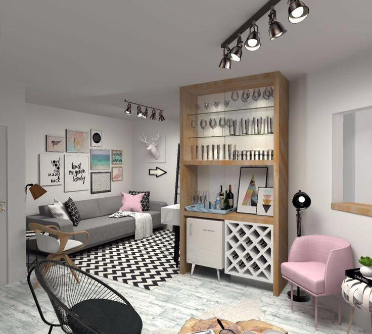 Reforma no apartamento da Carol Tognon, com muitas inspirações para decoração, quadros e móveis