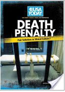 """[Neutral] """"Death Penalty: Fair Solution or Moral Failure?"""" by JoAnn Bren Guernsey discusses the history of execution, the process from sentencing to execution, moral issues around the death penalty, arguments for and against it, and the shrinking number of countries who use it as a means of punishment."""