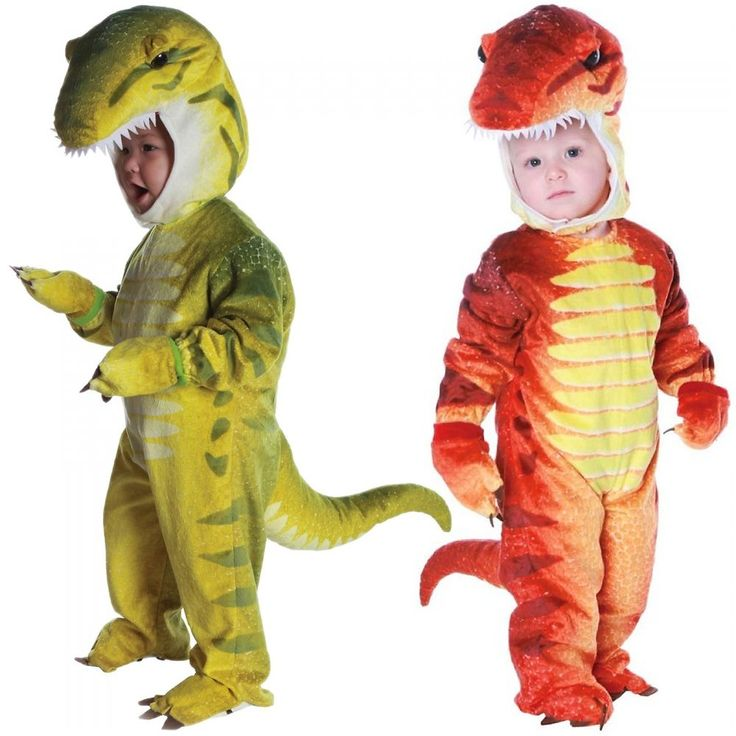 Choose from rust red or green when you buy the tyrannosaurus rex costume for baby/toddler size kids. The toddler & baby T-Rex costumes also makes a great Jurassic Park raptor (Velociraptor) costume. | eBay!